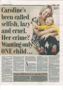 caroline-jones-Why I'm not selfish for only wanting one child